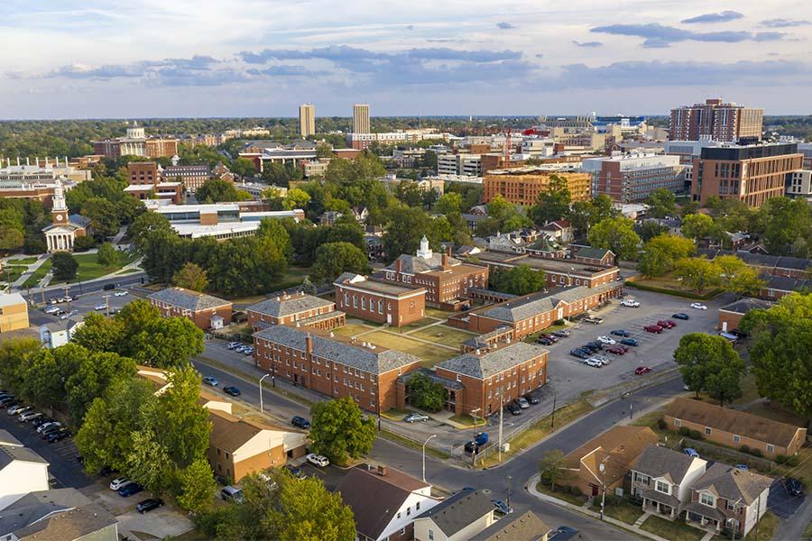 La Grange KY - Aerial View Of Downtown La Grange Kentucky